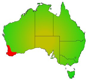 Western Pygmy Perch distribution area